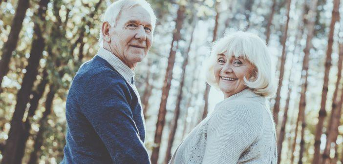 senior citizen couple image