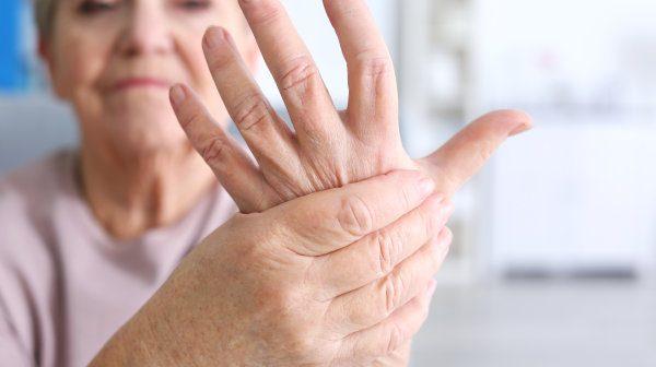 Senior with rheumatoid arthritis