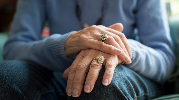 Senior with Parkinson's Disease