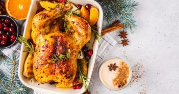 Decorated Roasted Chicken